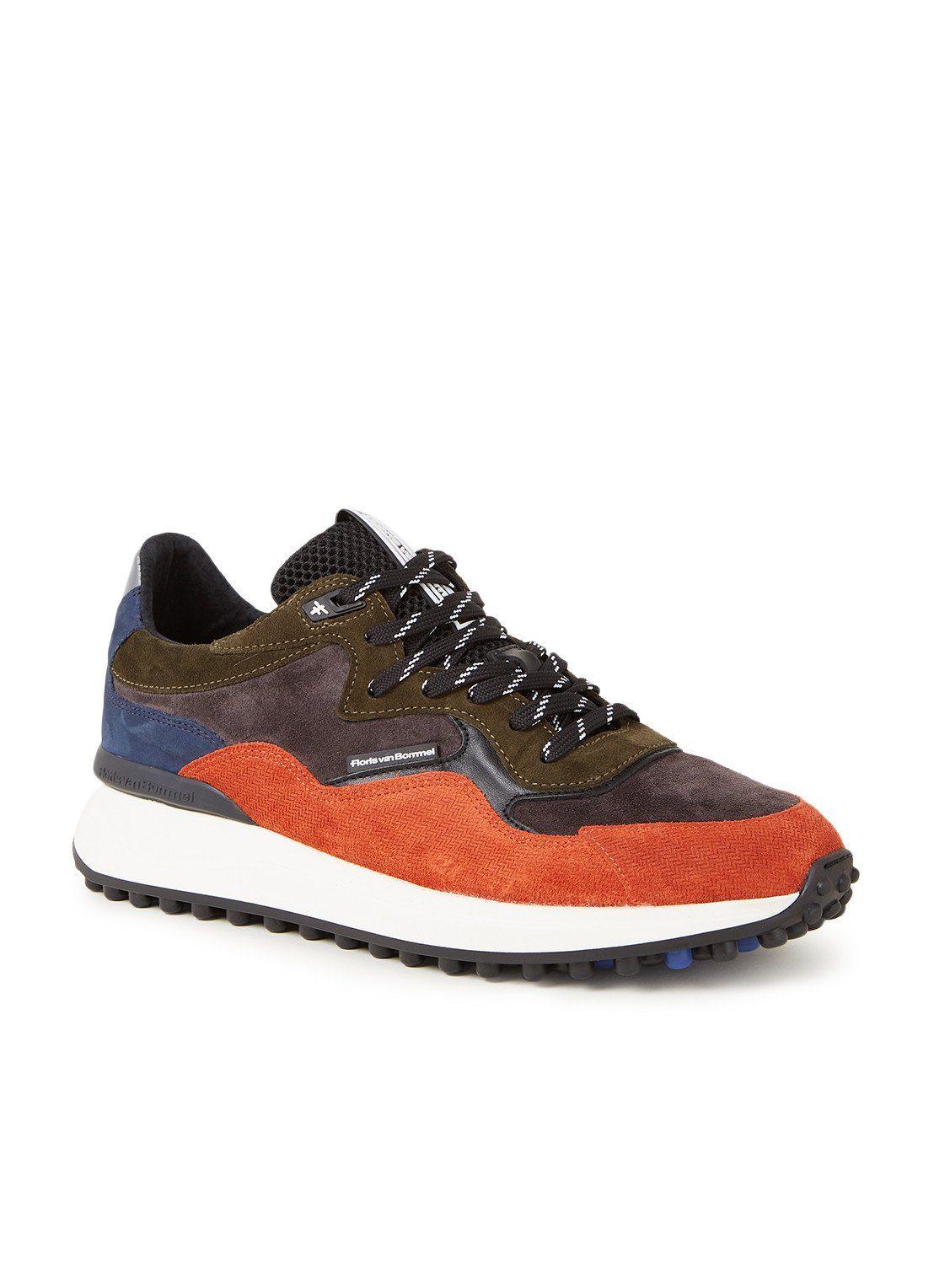 Floris van Bommel Sneaker aus Veloursleder mit Lederdetails